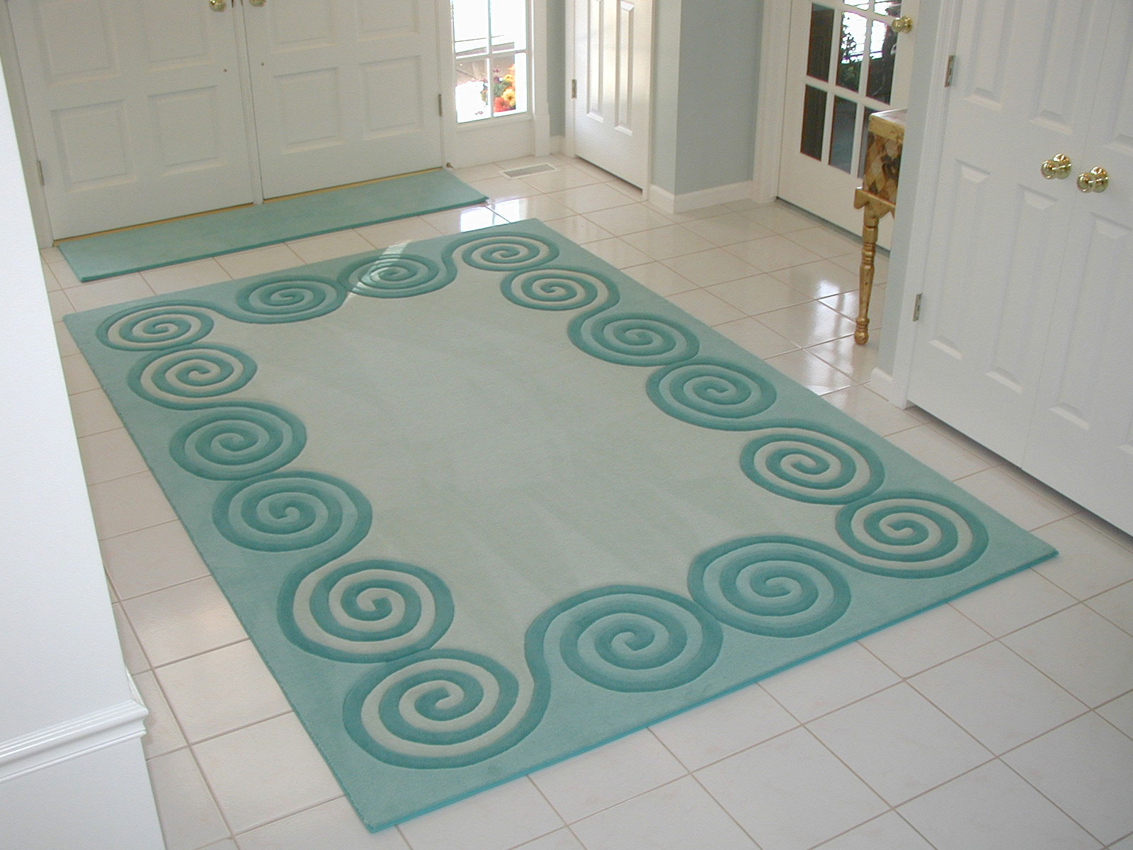 Foyer Room Size : Entryway rug size room ornament